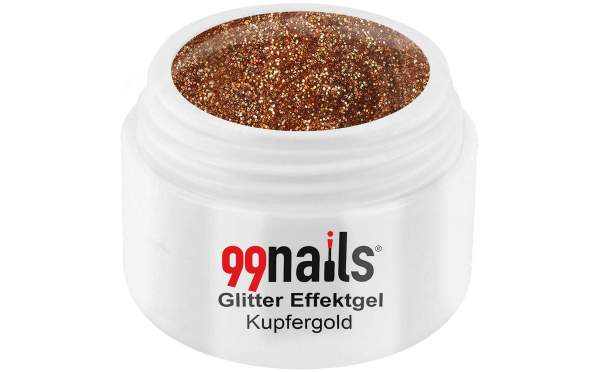 Glitter Effektgel - Kupfergold 5ml