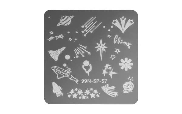 Stamping Plate Square - Cosmos