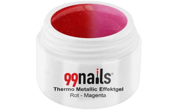 Thermo Metallic Effektgel - Rot-Magenta 5ml
