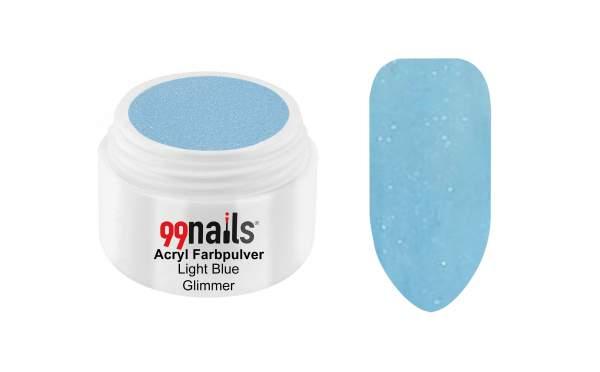 Acryl Farbpulver - Light Blue Glimmer 7g