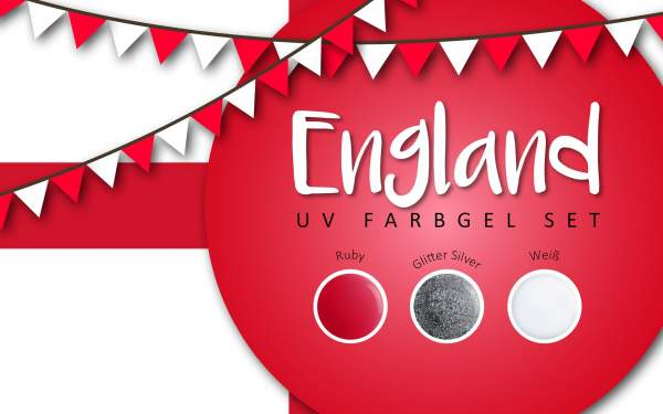 UV Farbgel Set - England 5ml