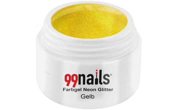 Farbgel Neon Glitter - Gelb 5ml