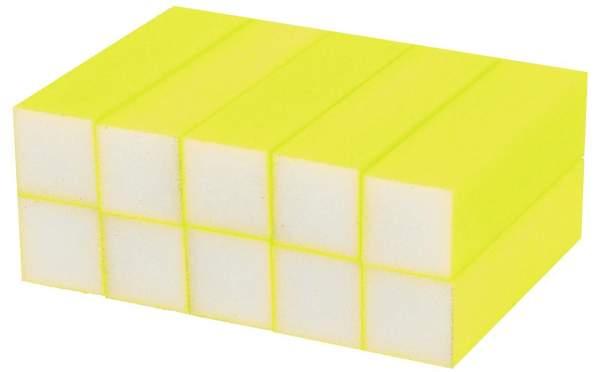 10x Schleifblock / Buffer Neon Gelb