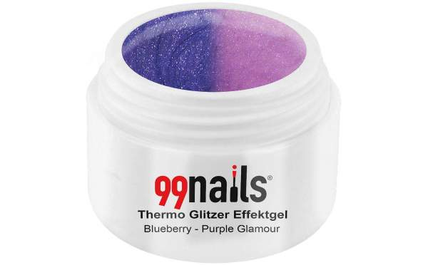 Thermo Glitzer Effektgel - Blueberry-Purple Glamour 5ml
