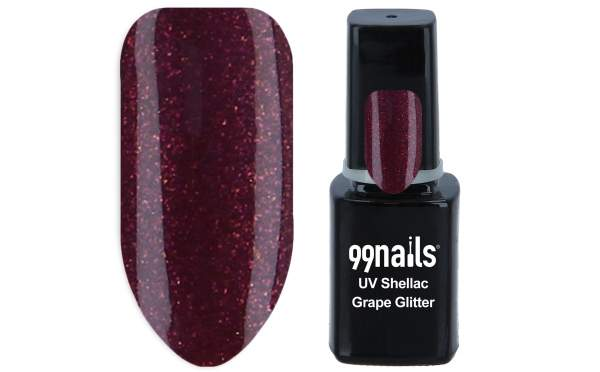 UV Shellac - Grape Glitter 12ml