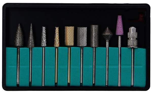 Deluxe Nagelfräser Bits 10er Set für Tritor Nagelfräser