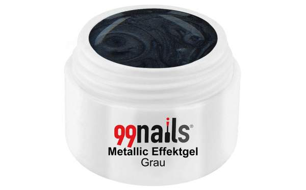 Metallic Effektgel - Grau 5ml