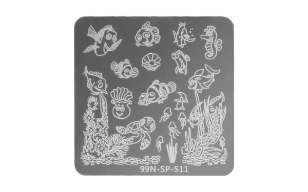 Stamping Plate Square - Ocean
