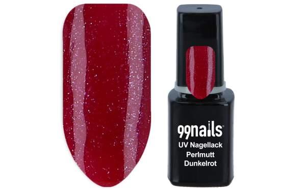 UV Nagellack - Perlmutt Dunkelrot 12ml