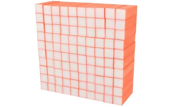 100x Schleifblock / Buffer Neon Orange