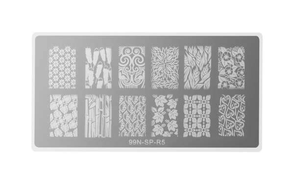 Stamping Plate Rectangle - Jungle