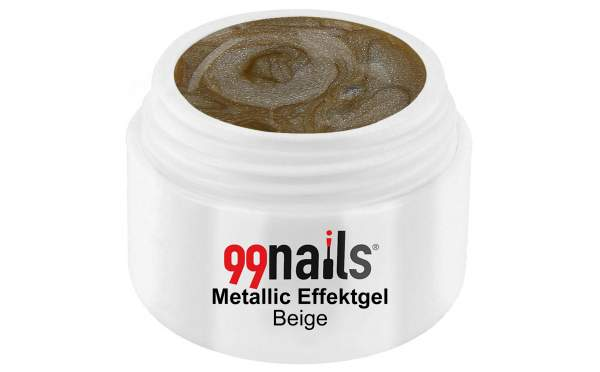 Metallic Effektgel - Beige 5ml