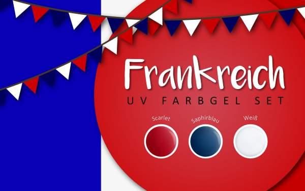 UV Farbgel Set - Frankreich 5ml