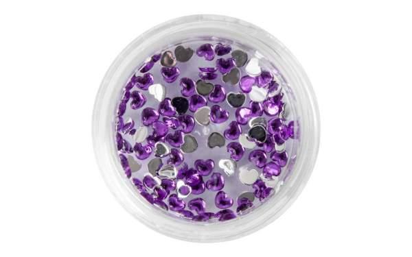 Strasssteine Herzen Purple