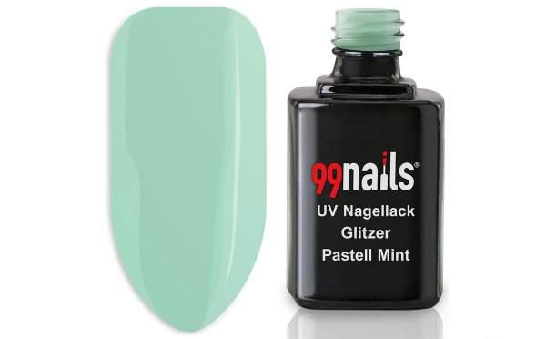 UV Nagellack - Glitzer Pastell Mint 12ml