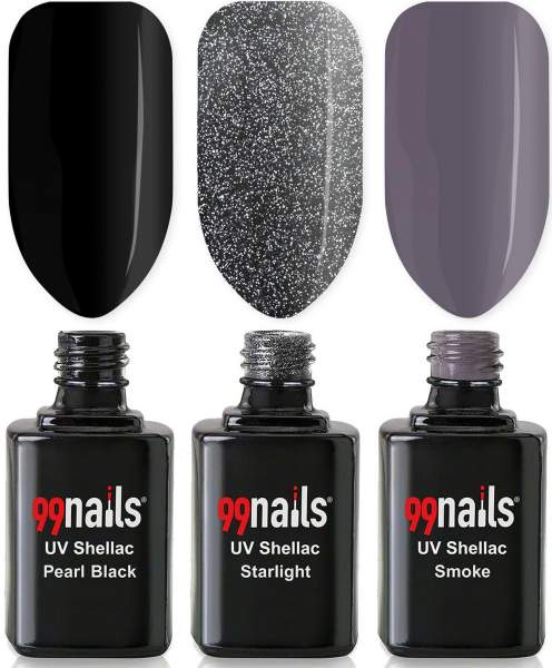UV Shellac Set - Black Beauty 12ml
