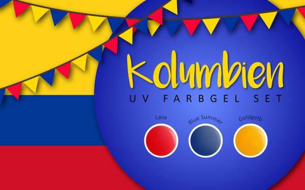UV Farbgel Set - Kolumbien 5ml