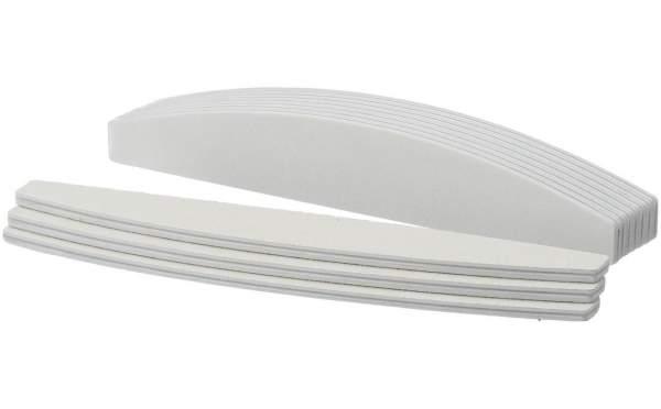 10x Premium Nagelfeile Trapez Weiß