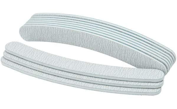 100x Premium Nagelfeile gebogen Zebra Körnung 100/180