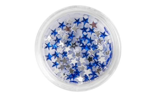 Strasssteine Sterne Blue
