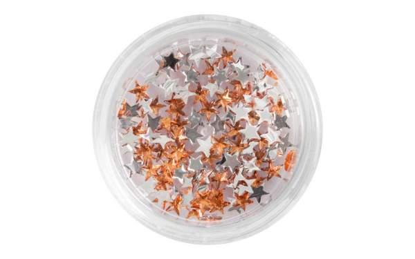 Strasssteine Sterne Orange